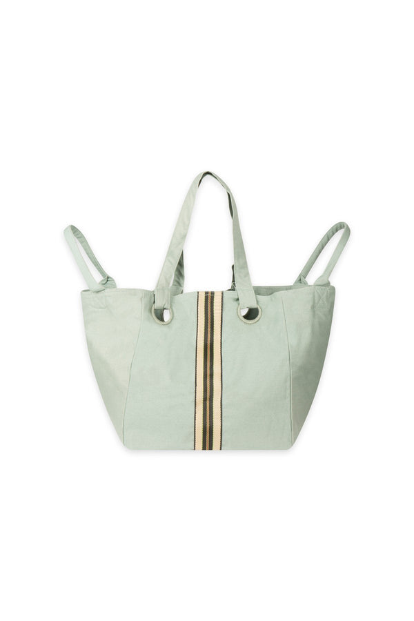 Mare di Latte - CUBE BAG SMALL NYLON STRIPES GRANITE