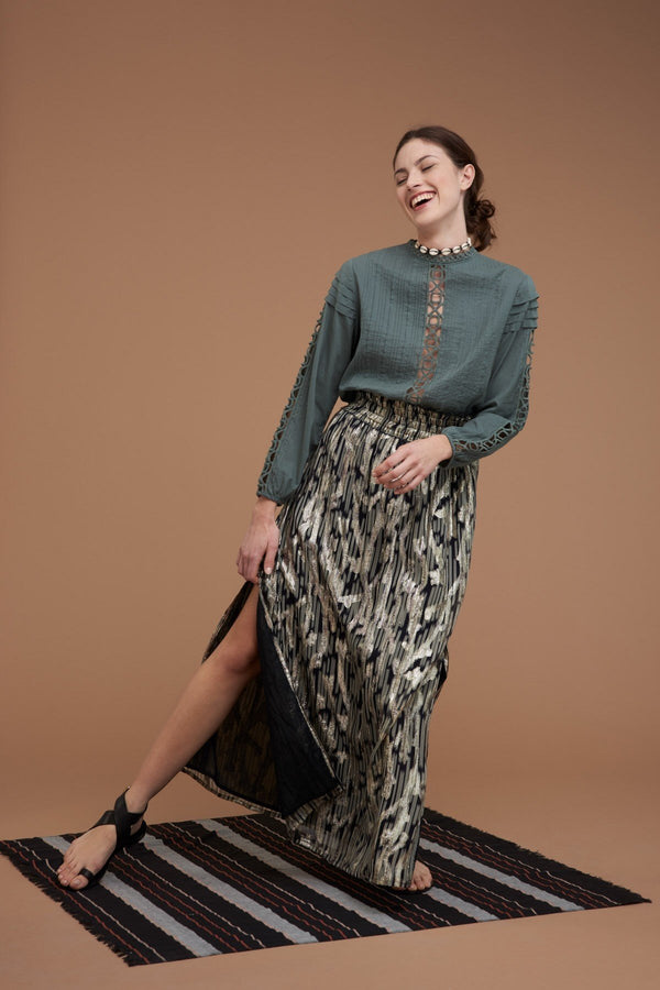 Mare di Latte - HELICIA LONG SKIRT LUREX