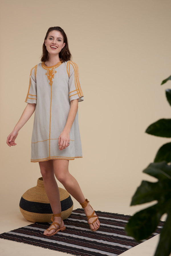 Mare di Latte - KAROLINE DRESS COTTON BEADS