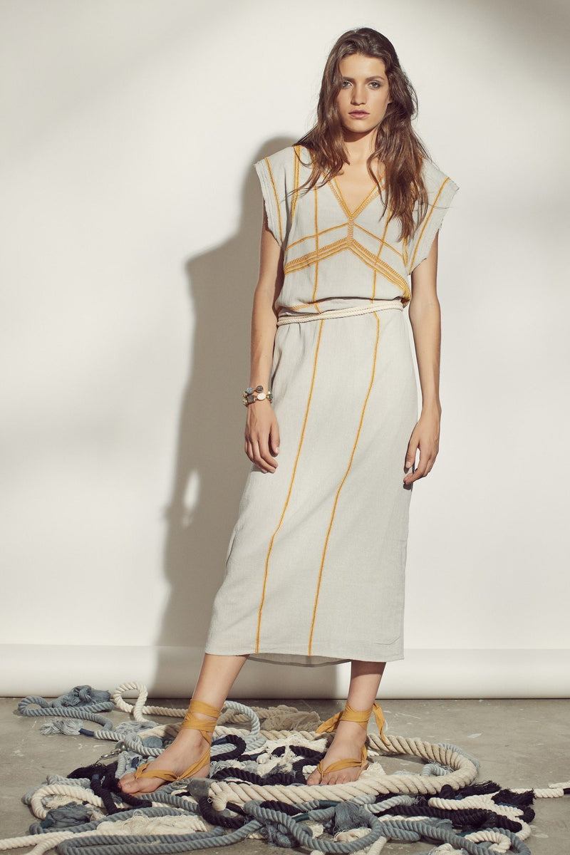 Mare di Latte - KAYLA LONG DRESS COTTON BEADS