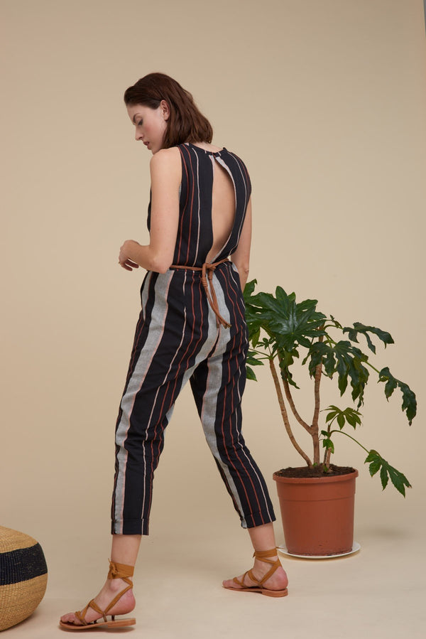 Mare di Latte - NOE JUMPSUIT ARIZONA STIPPES COTTON