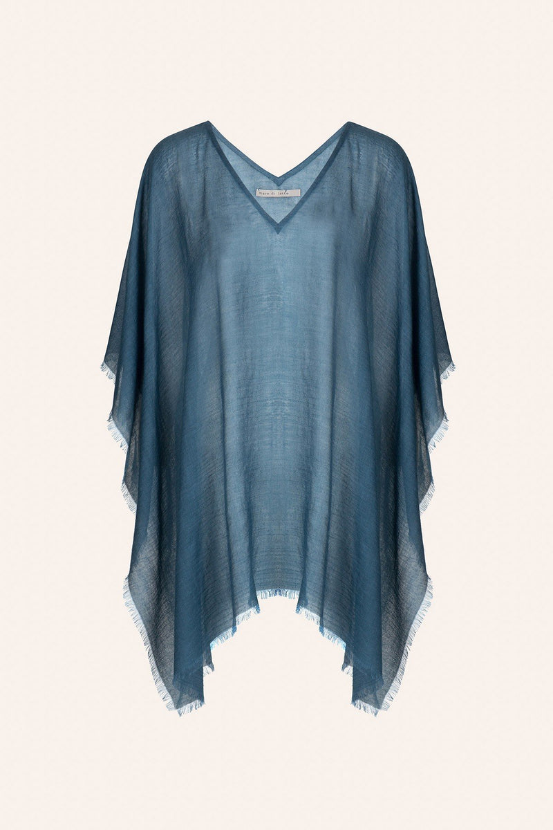 Mare di Latte - PONCHO RAFAELE CHINA BLUE