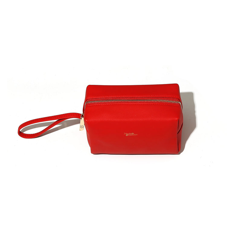 Charlotte and Emerson - Red Lucerne Cosmetic Bag - Frost Collection