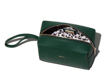 Charlotte and Emerson - Lucerne Cosmetic Bag - Frost Collection Forrest Green