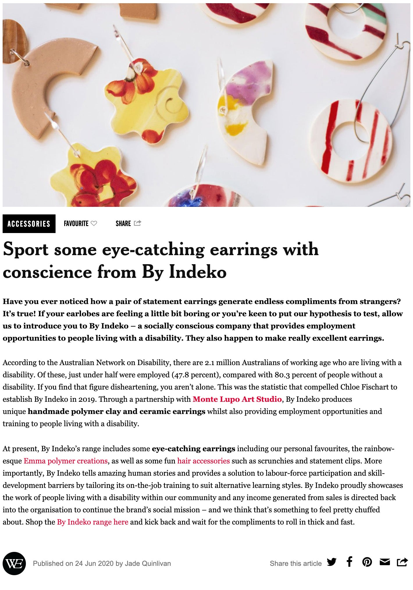 The Weekend Edition Article for By Indeko