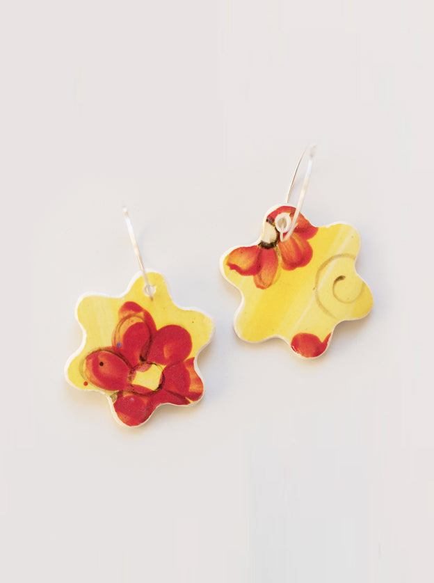 Fresh Bloom Ceramic Earrings