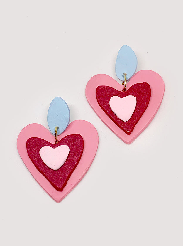 My Valentine Polymer Clay Earrings