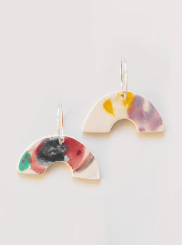 Ray of Sunshine Ceramic Earrings