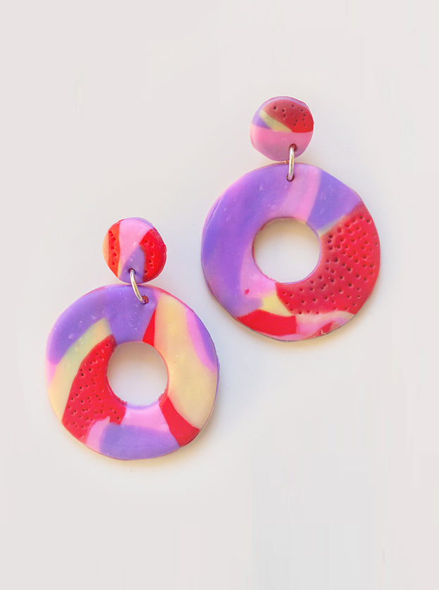 Winnie Polymer Clay Earrings