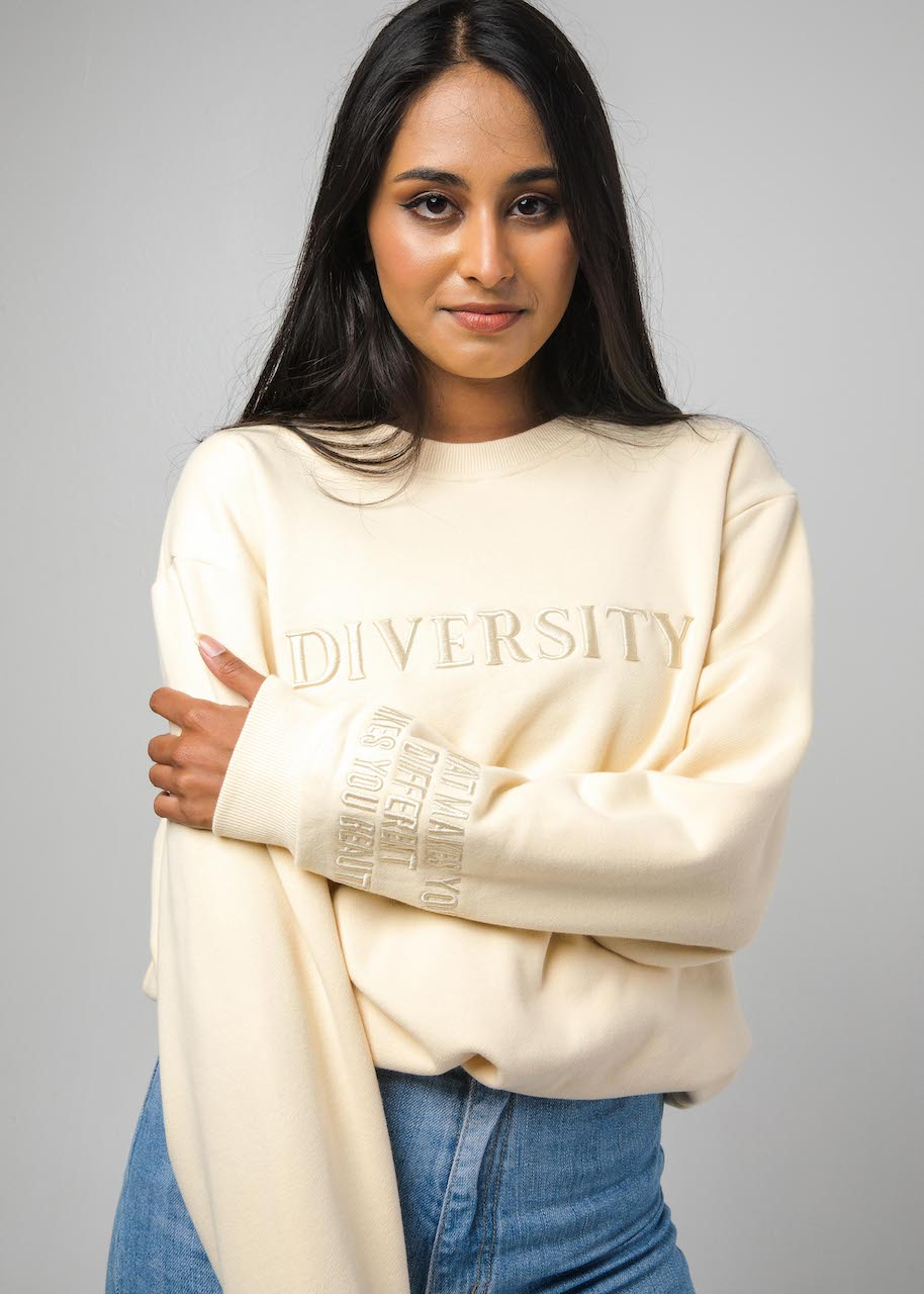 Diversity Embroidered Sweatshirt