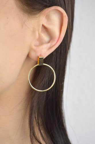 Lilly Drop Hoop Earrings