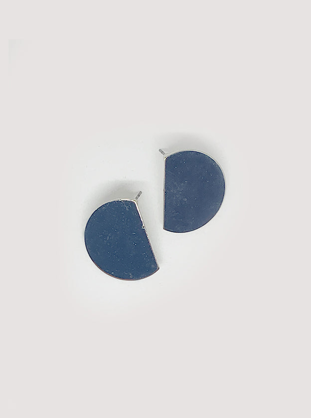 Sofia Half Disc Earrings