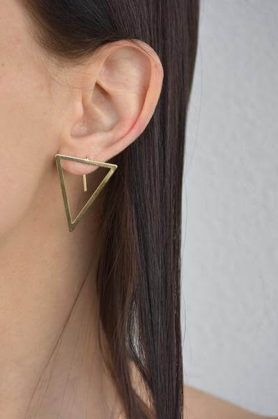 Abstract Triangle Earrings