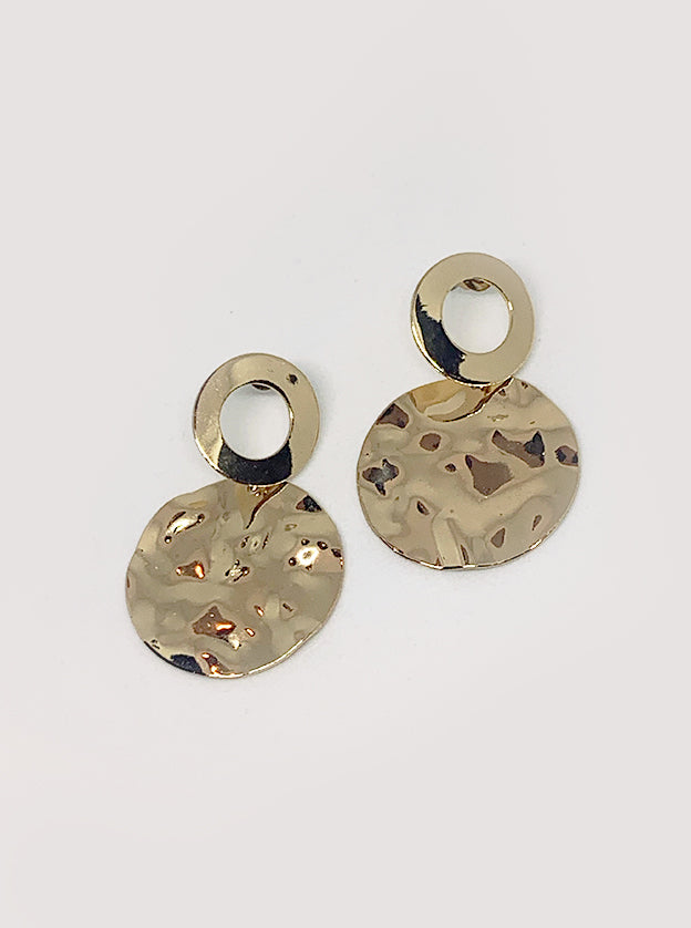 Valentina Gold Disc Earrings