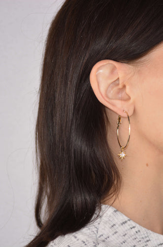 Hoop with latch closure Earrings