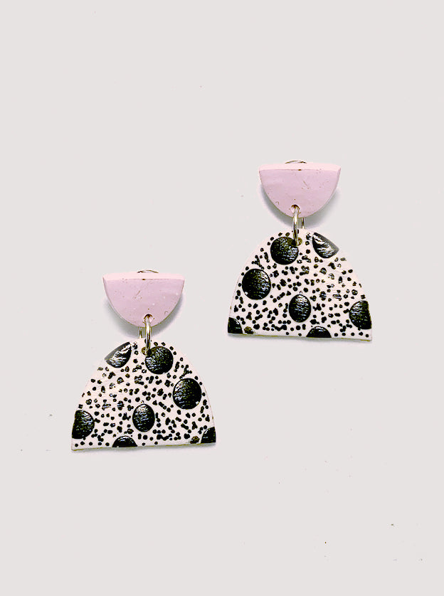 Polka Dot Polymer Clay Earrings
