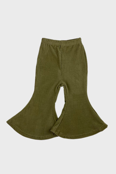 faux suede bell bottoms || olive