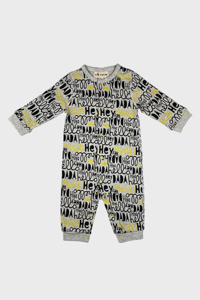 long sleeve onesie || hiya hello