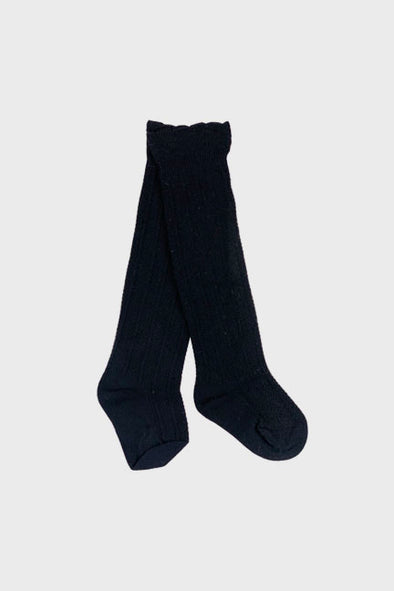 knee high socks || black