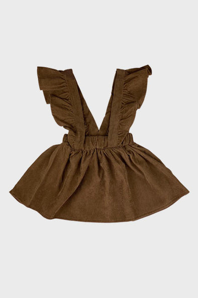 corduroy suspender skirt || beech wood