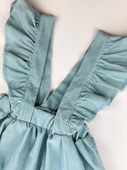 corduroy suspender skirt || starlight blue