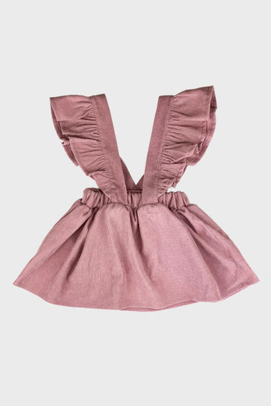corduroy suspender skirt || rose