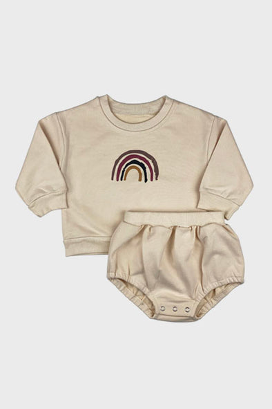 rainbow 2 pc sweatshirt set || toast