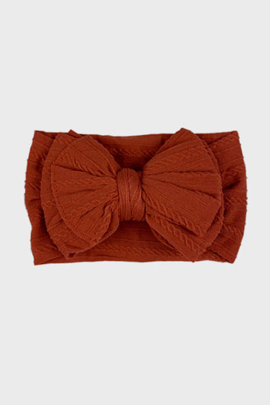 big bow knotted headband || rust