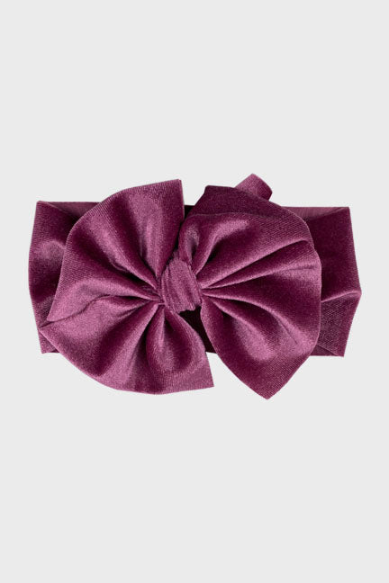 velvet big bow headband || violet quartz