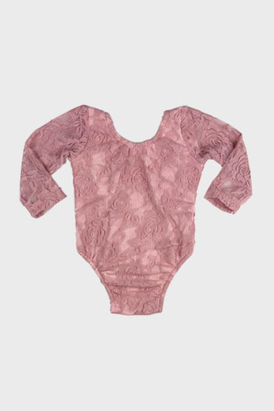 floral lace onesie || rose