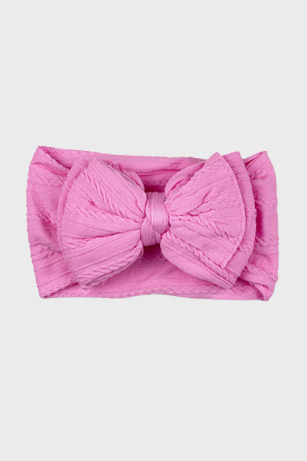 big bow knotted headband || bubble gum