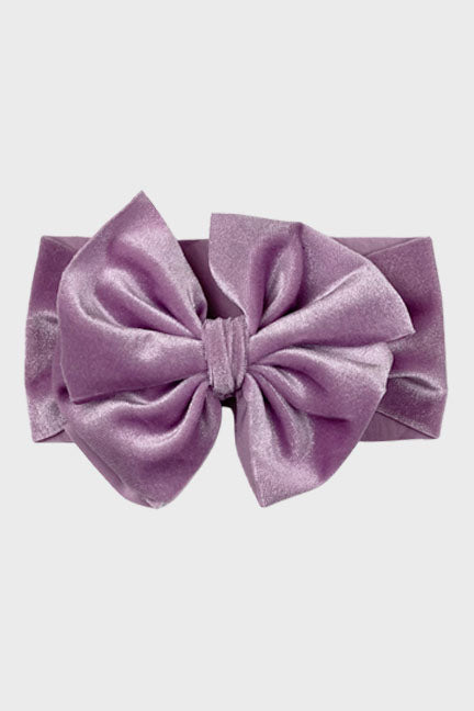 velvet big bow headband || white