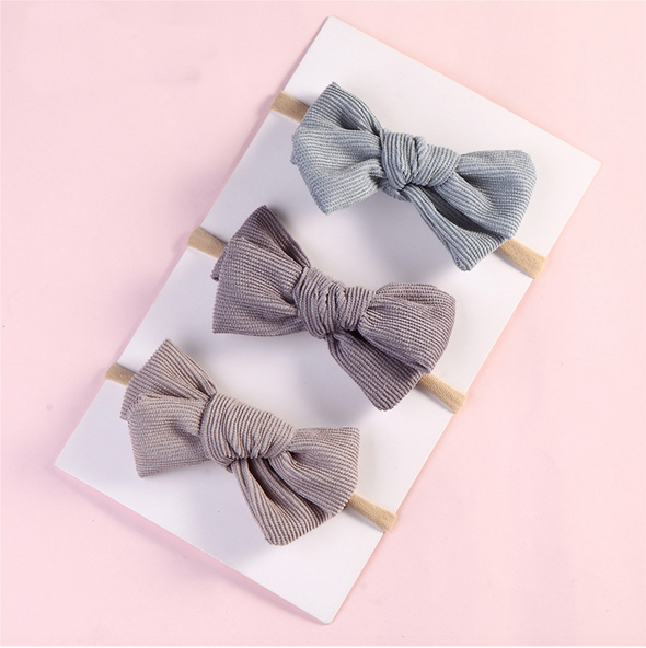 corduroy bow headband || toast