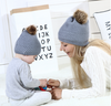 mommy and me beanies || gray