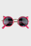 cat sunglasses || fuchsia