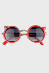 cat sunglasses || red