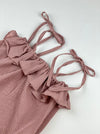 2 pc bubble onesie || rosewood