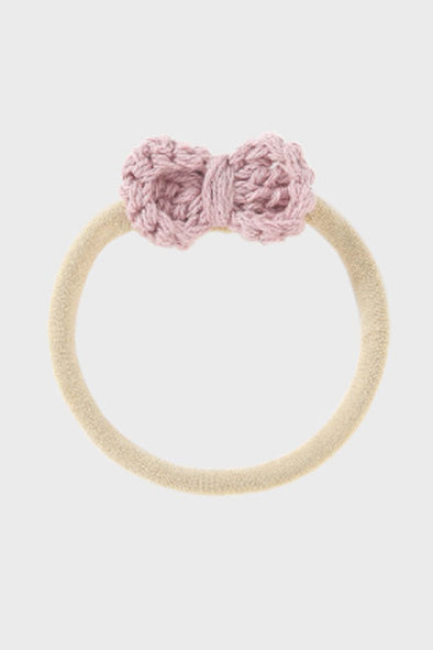 crochet bow headband || lavender