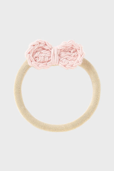 crochet bow headband || rose