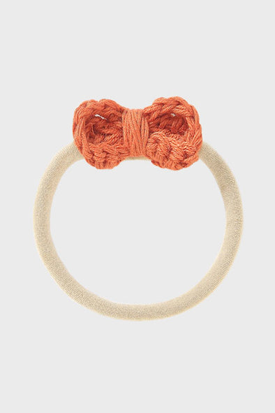 crochet bow headband || rust
