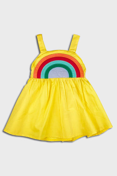rainbow dress || yellow