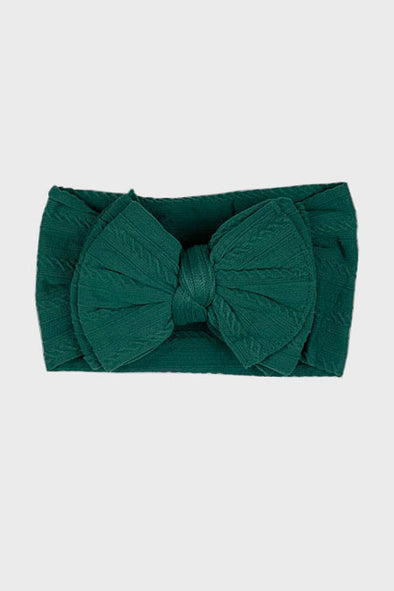 big bow knotted headband || emerald