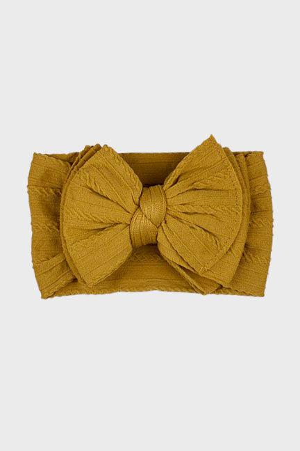 big bow knotted headband || gold