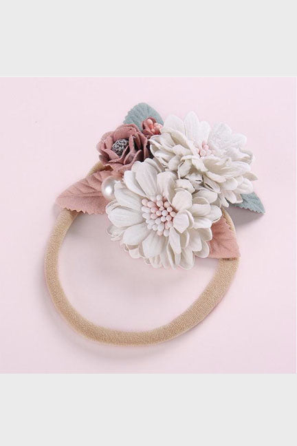 embellished floral headband || 2 flowers