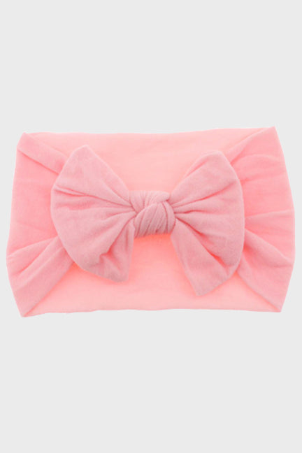 turban headband with bow || pink carnation