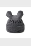milk knit beanie || gray
