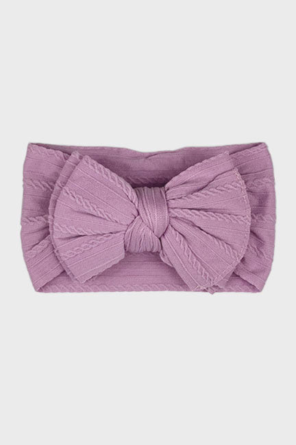 big bow knotted headband || orchid