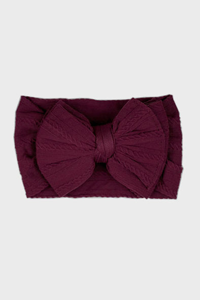 big bow knotted headband || port