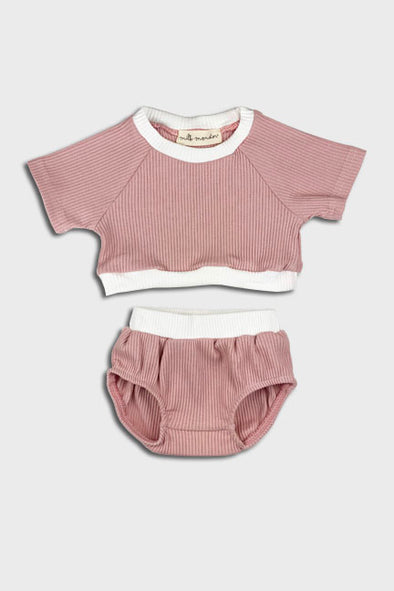 2 pc cropped set || rose