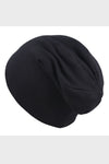 cotton slouch beanie || black